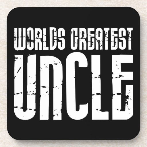 Vintage Retro Cool Uncles : World's Greatest Uncle Drink Coaster
