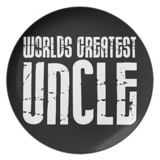 Vintage Retro Cool Uncles : World's Greatest Uncle Party Plate