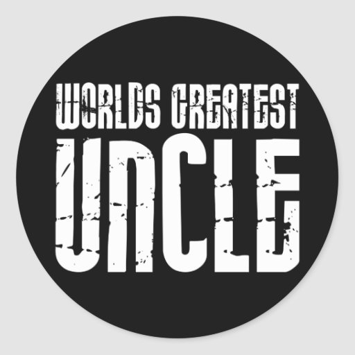 Vintage Retro Cool Uncles : World's Greatest Uncle Classic Round Sticker