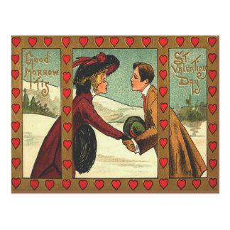 Vintage Retro Couple Kissing Valentine Card