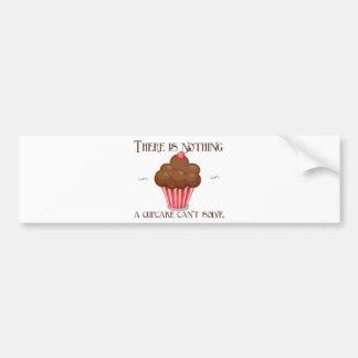 Vintage, retro cupcake lover apron design bumper sticker