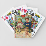 Vintage Retro Cute Couple Cupid Valentine Card Bicycle Playing Cards