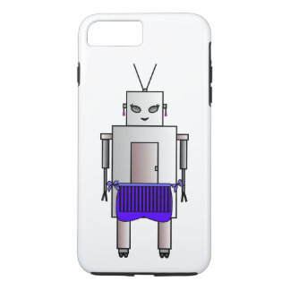 Vintage Retro Cute Female Robot With Apron iPhone 7 Plus Case