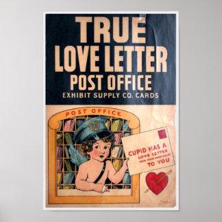 Vintage Retro Cute Humor Love Relationship Poster