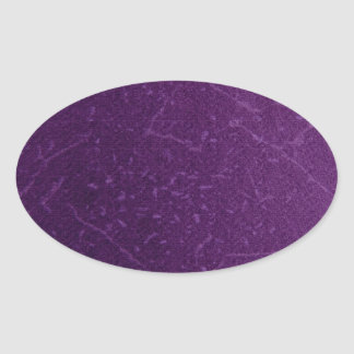 Vintage retro damask purple patterns oval sticker