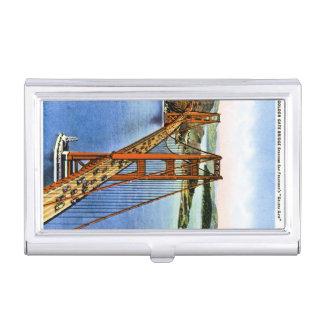 Vintage retro de la postal del puente de la puerta cajas de tarjetas de negocios