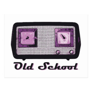 Vintage retro de la radio de la escuela vieja postales