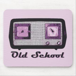 Vintage retro de la radio de la escuela vieja tapete de ratones