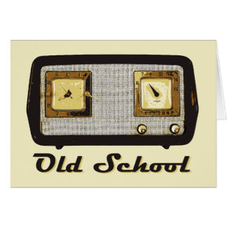 Vintage retro de la radio de la escuela vieja tarjeta de felicitación