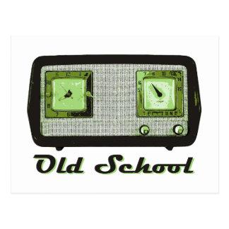 Vintage retro de la radio de la escuela vieja tarjeta postal