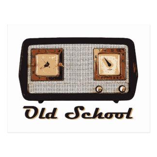 Vintage retro de la radio de la escuela vieja tarjetas postales