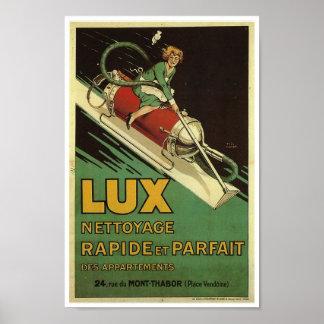 Vintage retro del francés del anuncio de la póster