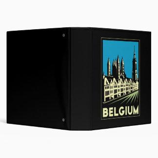 """vintage retro del viaje del art déco de Bélgica Eu Carpeta 1 1/2"""""""