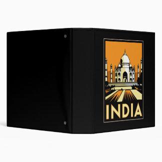 """vintage retro del viaje del art déco del Taj Mahal Carpeta 1 1/2"""""""