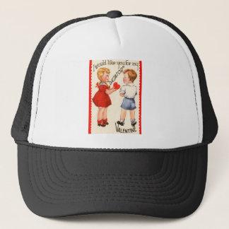 """Vintage Retro """"Dictator"""" Valentine Card Trucker Hat"""