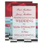 Vintage Retro Diner Wedding invite