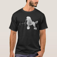 Vintage Retro Distressed Heartbeat Poodle Dog Gift T-Shirt