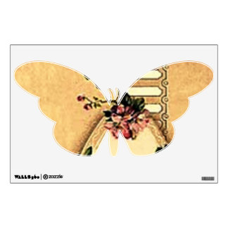 Vintage Retro Dogwood Butterfly Wall Decal III