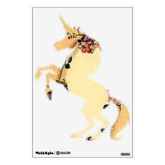 Vintage Retro Dogwood Carousel Unicorn Wall Decal