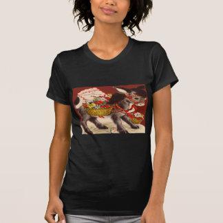 Vintage Retro Donkey Valentine Card T-Shirt