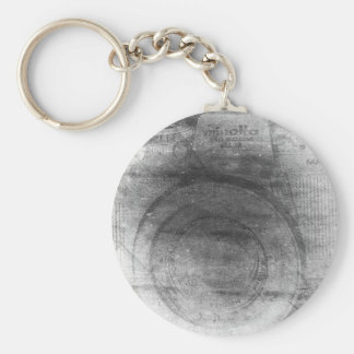 Vintage retro dreamy grey distressed photo camera keychain