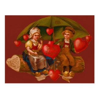 Vintage Retro Dutch Valentine Card