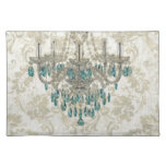 vintage retro elegant damask chandelier place mats