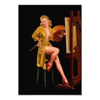 Vintage Retro Elvgren Painter Artist Pinup Girl Card