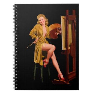 Vintage Retro Elvgren Painter Artist Pinup Girl Notebook