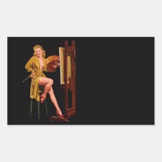 Vintage Retro Elvgren Painter Artist Pinup Girl Stickers