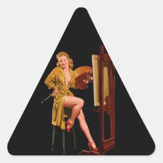 Vintage Retro Elvgren Painter Artist Pinup Girl Sticker