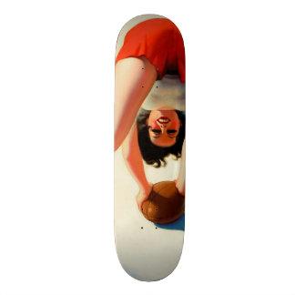 Vintage Retro Enoch Bolles Football Pinup Girl Skateboard