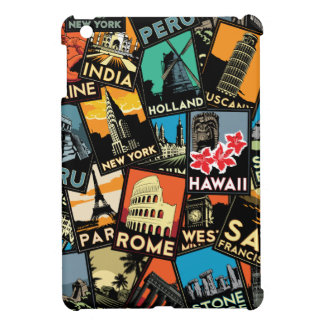 vintage retro Europa Asia los E.E.U.U. de los post iPad Mini Protectores