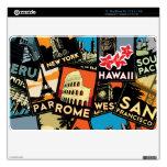 Vintage retro Europa Asia los E.E.U.U. de los post MacBook Calcomanías