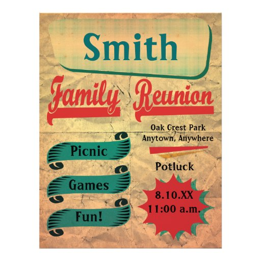 family picnic flyer templates .