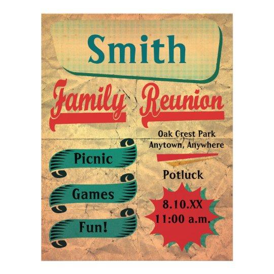 Vintage Retro Family Reunion Flyer – Family Reunion Flyer