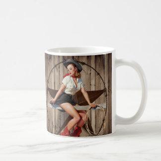 vintage retro fashion western country coffee mug