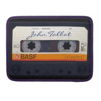 Vintage Retro Fashioned 80s Mixtape Audio Cassette Sleeve For MacBooks
