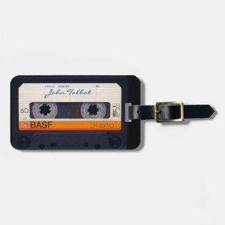 Vintage Retro Fashioned 80s Mixtape Audio Tape Tag