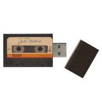 Vintage Retro Fashioned 80s Mixtape Audio Tape USB Wood Flash Drive