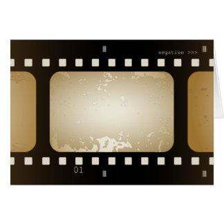 Vintage Retro Film Strip Film Role Photo Card