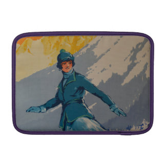Vintage Retro First Olympic Poster MacBook Air Sleeve
