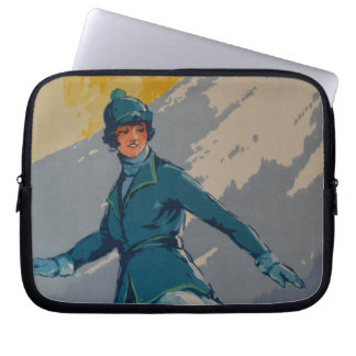 Vintage Retro First Olympic Poster Laptop Sleeve