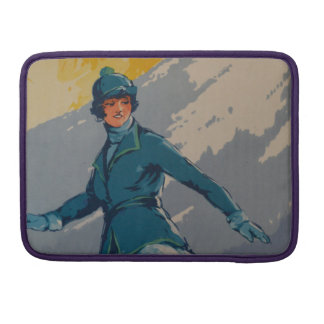 Vintage Retro First Olympic Poster Sleeve For MacBook Pro