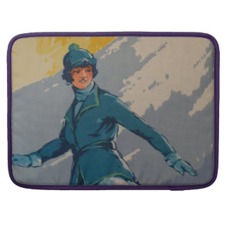 Vintage Retro First Olympic Poster MacBook Pro Sleeve