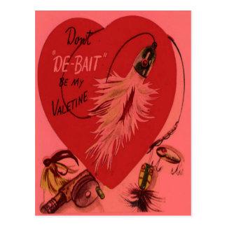 Vintage Retro Fishing Lure Valentine Card