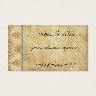 Vintage Retro Flowers Business Card