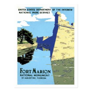 Vintage retro Fort Marion St. Augustine travel Postcard