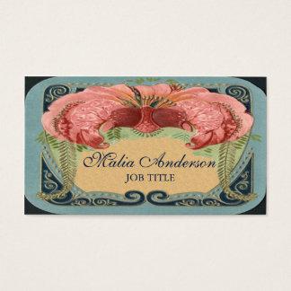Vintage Retro French Floral Art Nouveau Frame Business Card