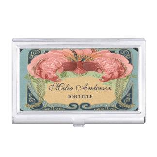 Vintage Retro French Floral Art Nouveau Frame Business Card Case